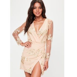 Misguided Gold Sequin Dress